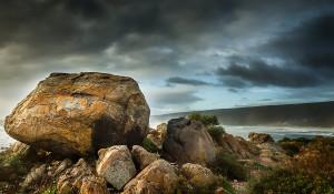 Yallingup Beach boulders