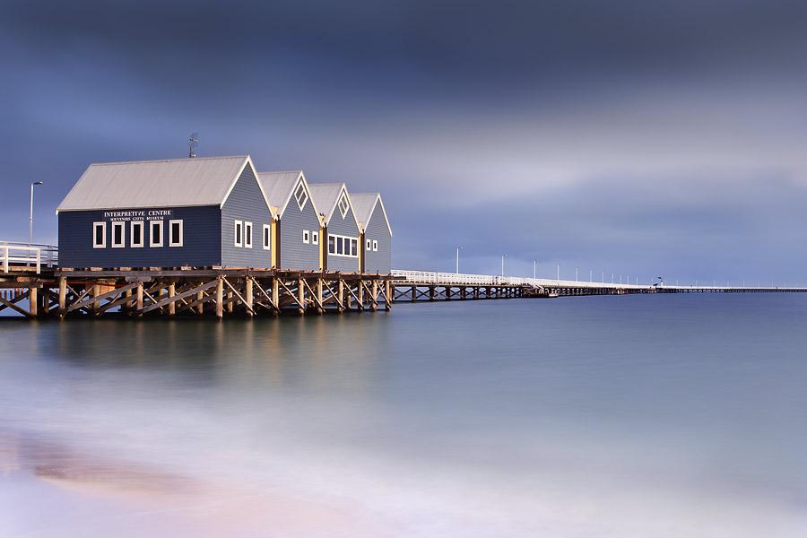 Busselton Jetty, Western Australia, winter storm.