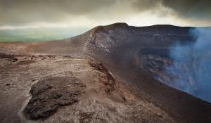 Crater rim, Mt Yasur volcano