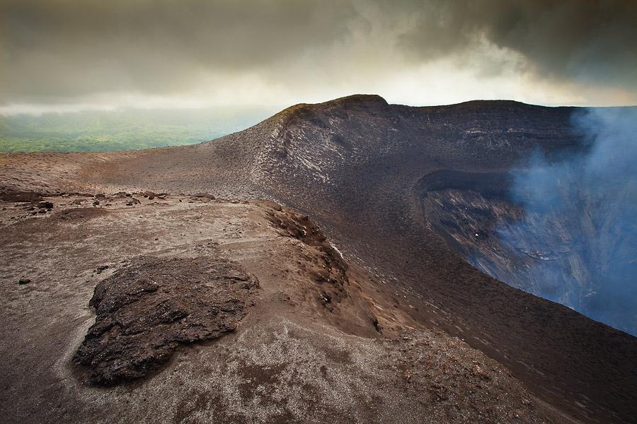 Mt Yasur Tanna Island, Vanuatu, volcano crater rim
