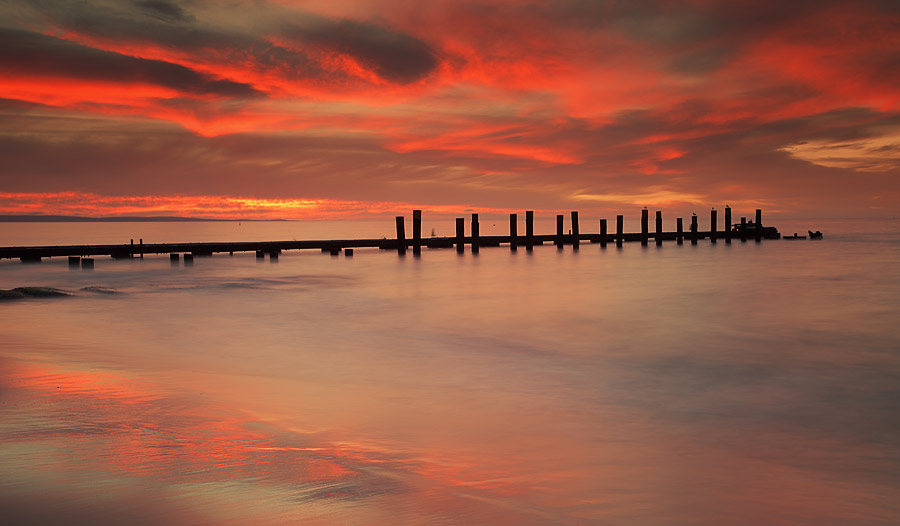 Old Busselton Jetty, Western Australia, sunset.
