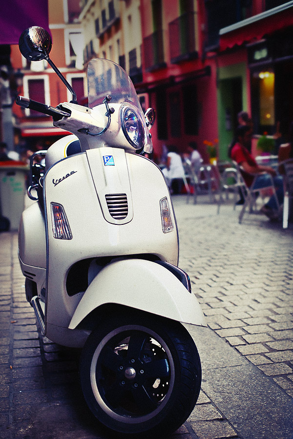 Vespa Madrid, Spain.