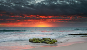 Perth Coast Blazing Winter Sunset