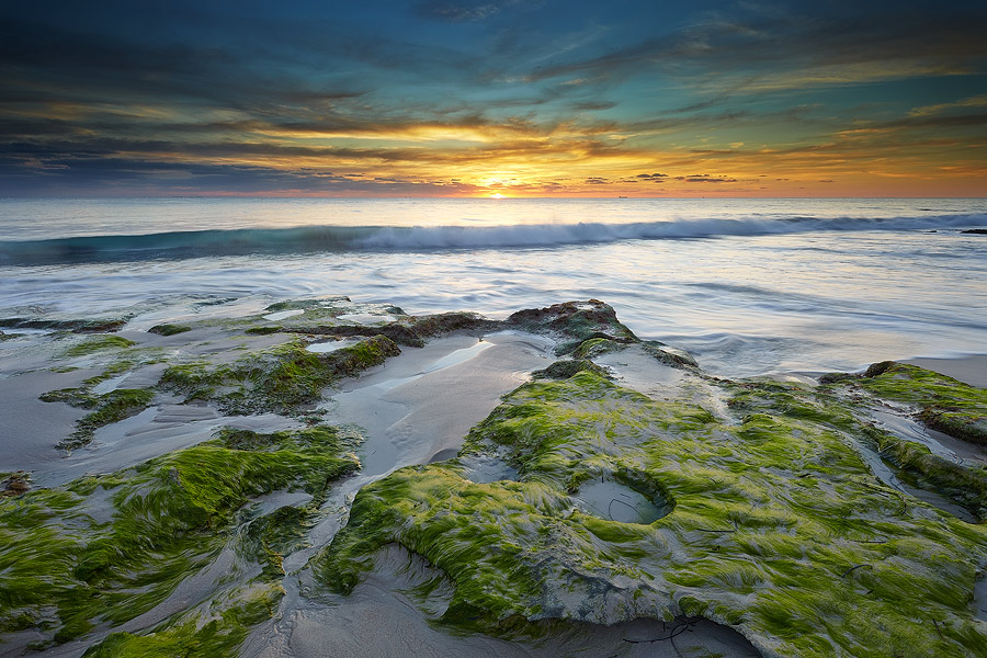 Perth coast, exposed reef, Western Australia