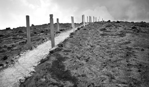 Mt Yasur volcano pathway