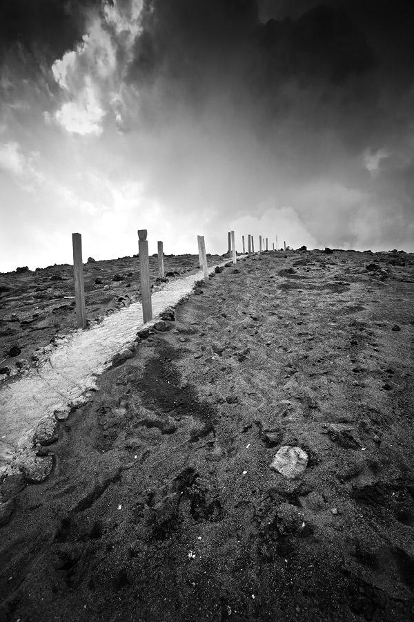 Mount Yasur volcano track