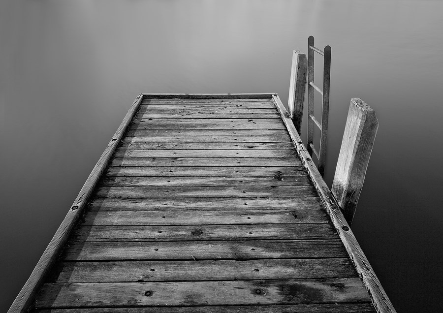 Como jetty WA black and white photo,